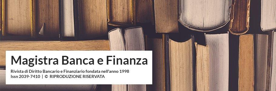 Magistra Banca e Finanza - Studio Legale Tidona e Associati - Diritto Bancario e Diritto Finanziario