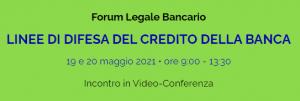 Forum Legale Bancario Tidona 2021